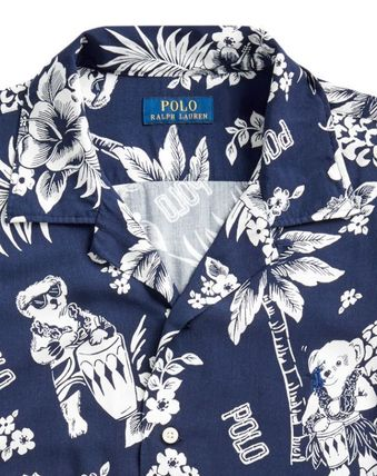 Tropical Patterns Unisex Short Sleeves Logo Front Button