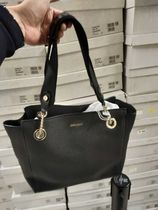 Jimmy Choo Casual Style 2WAY Plain Leather Office Style Logo Totes