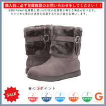 G BY GUESS Round Toe Rubber Sole Casual Style Plain Flat Boots
