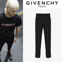 GIVENCHY Wool Street Style Plain Cropped Pants