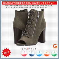 G BY GUESS Open Toe Lace-up Casual Style Plain Chunky Heels