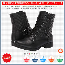 G BY GUESS Round Toe Lace-up Casual Style Plain Lace-up Boots