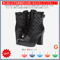 G BY GUESS Round Toe Lace-up Casual Style Plain Chunky Heels