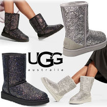 UGG Australia CLASSIC SHORT Casual Style Sheepskin Suede Flat Boots