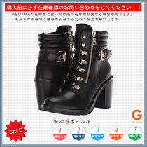 G BY GUESS Plain Toe Rubber Sole Casual Style Plain Chunky Heels