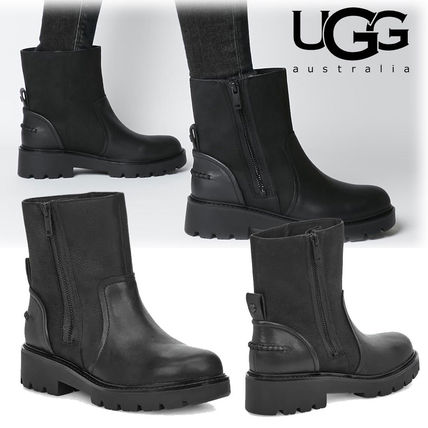 UGG Australia Ankle & Booties Casual Style Plain Leather Ankle & Booties Boots
