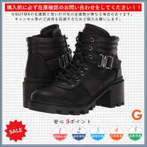 G BY GUESS Rubber Sole Lace-up Casual Style Plain Block Heels