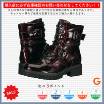G BY GUESS Lace-up Casual Style Plain Block Heels Lace-up Boots