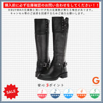 G BY GUESS Plain Toe Casual Style Plain Block Heels Mid Heel Boots