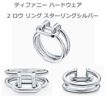Tiffany & Co Tiffany T Unisex Street Style Silver Rings