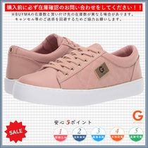G BY GUESS Monogram Round Toe Casual Style Low-Top Sneakers
