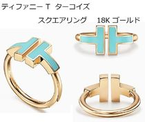 Tiffany & Co Tiffany T Unisex Blended Fabrics 18K Gold Elegant Style Rings