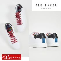 TED BAKER Street Style Bi-color Plain Leather Sneakers