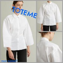 TOTEME Casual Style Plain Cotton Elegant Style Puff Sleeves