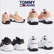 Tommy Hilfiger Casual Style Unisex Street Style Leather Low-Top Sneakers