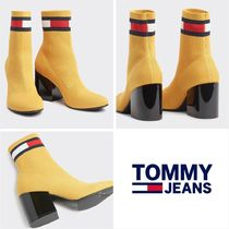 Tommy Hilfiger Round Toe Casual Style Street Style Block Heels