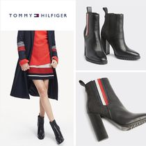 Tommy Hilfiger Casual Style Street Style Leather Block Heels