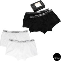 Dolce & Gabbana Stripes Plain Cotton Boxer Briefs
