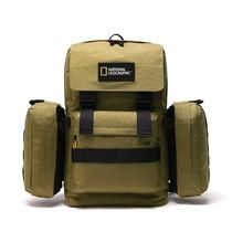 NATIONAL GEOGRAPHIC Casual Style Unisex Blended Fabrics Logo Backpacks