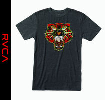 RVCA Street Style Other Animal Patterns Short Sleeves T-Shirts