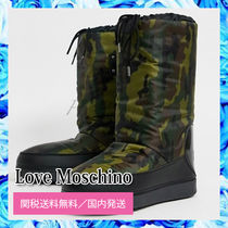 Love Moschino Camouflage Logo Boots Boots