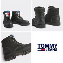 Tommy Hilfiger Street Style Leather Boots