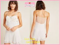 Anthropologie Chiffon Plain Lace Slips & Camisoles