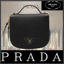 PRADA Unisex Leather Backpacks