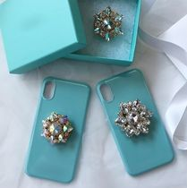 Plain Handmade With Jewels Smart Phone Cases