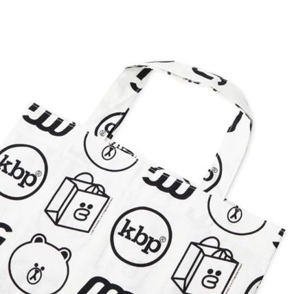 LINE FRIENDS Totes Casual Style Street Style Collaboration Logo Totes 5