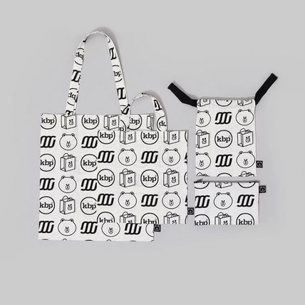 LINE FRIENDS Totes Casual Style Street Style Collaboration Logo Totes 6