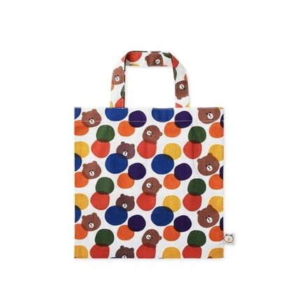 Casual Style Street Style Collaboration Logo Totes