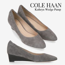 Cole Haan Casual Style Suede Plain Pumps & Mules