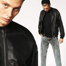 DIESEL Leather MA-1 Military Bomber Jackets