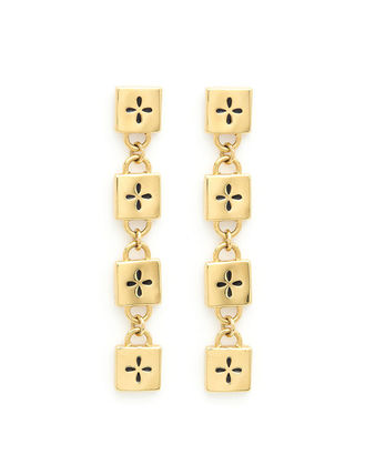 Costume Jewelry Casual Style Cross Handmade Brass 22K Gold