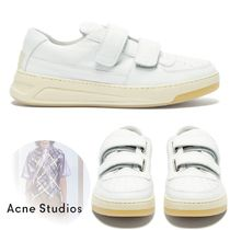 Acne Plain Leather Sneakers
