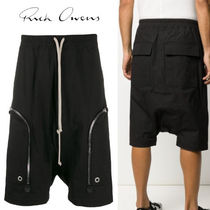 RICK OWENS Cotton Cargo Shorts