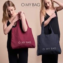 O MY BAG Casual Style Unisex Canvas A4 Plain Office Style Totes