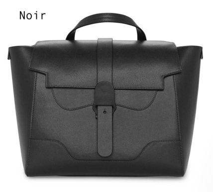 Casual Style 3WAY Plain Leather Office Style Elegant Style