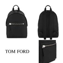 TOM FORD Casual Style Unisex Plain Leather Backpacks
