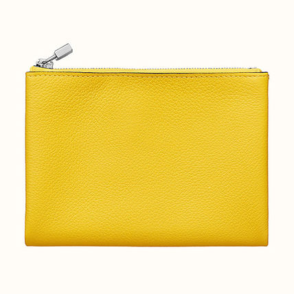 HERMES Coin Cases Unisex Plain Leather Coin Cases 6