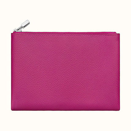 HERMES Coin Cases Unisex Plain Leather Coin Cases 8