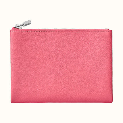 HERMES Coin Cases Unisex Plain Leather Coin Cases 10