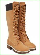 Timberland Street Style Plain Leather Chunky Heels Boots Boots