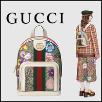 GUCCI Ophidia Flower Patterns Monogram Casual Style Unisex Blended Fabrics