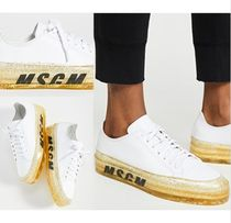 MSGM Casual Style Leather Low-Top Sneakers