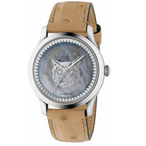 GUCCI Casual Style Unisex Leather Round Party Style