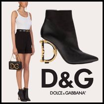 Dolce & Gabbana Casual Style Logo Ankle & Booties Boots