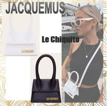 JACQUEMUS Casual Style Street Style 2WAY Plain Leather Shoulder Bags