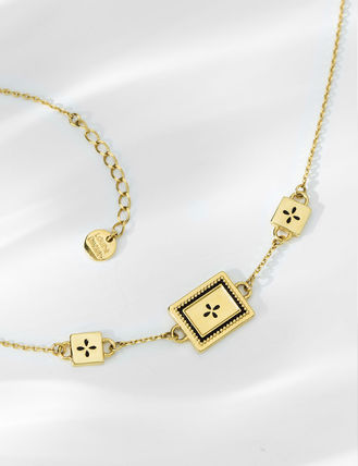 Costume Jewelry Casual Style Cross Chain Handmade Brass